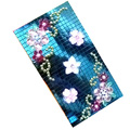 Flower 3D Crystal Bling Diamond Rhinestone Jewellery stickers for mobile phone cases covers - Green
