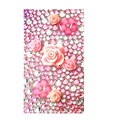 Flower 7 3D Crystal Bling Diamond Rhinestone Jewellery stickers for mobile phone cases covers - Pink