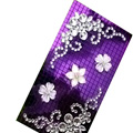 Flower Crystal Bling Diamond Rhinestone Jewellery stickers for mobile phone cases covers - Purple