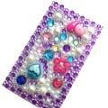Flower Crystal Bling Diamond Rhinestone Jewellery stickers for mobile phone cases covers - Strawberry