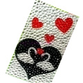Heart Crystal Bling Diamond Rhinestone Jewellery stickers for mobile phone cases covers - Duck