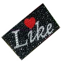 Heart Crystal Bling Diamond Rhinestone Jewellery stickers for mobile phone cases covers - Like