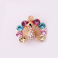Bling Cute Peacock Alloy Crystal Rhinestone Flatback DIY Phone Case Cover Deco Kit - Color