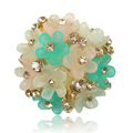 Bling Flower Alloy Crystal Rhinestone DIY Phone Case Cover Deco Kit 29mm - Green