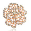 Bling Flower Alloy Crystal Rhinestone DIY Phone Case Cover Deco Kit 49*48mm - Gold