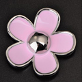 Bling Flower Alloy Metal Crystal DIY Phone Case Cover Deco Kit 33mm - Pink