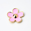 Bling Flower Alloy Metal Rhinestone DIY Phone Case Cover Deco Kit 33mm - Pink