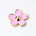 Bling Flower Alloy Metal Rhinestone DIY Phone Case Cover Deco Kit - Pink 02