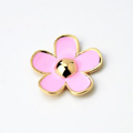 Bling Flower Alloy Metal Rhinestone DIY Phone Case Cover Deco Kit - Pink 03