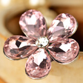 Bling Flower Alloy Rhinestone Crystal DIY Phone Case Cover Deco Kit 20mm - Pink