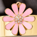Bling Flower Alloy Rhinestone Crystal DIY Phone Case Cover Deco Kit 35mm - Pink