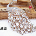Bling Peacock Alloy Crystal Rhinestone Flatback DIY Phone Case Cover Deco Kit - White