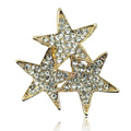 Bling Stars Alloy Rhinestone Crystal DIY Phone Case Cover Deco Kit 37mm - Gold