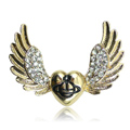 Bling Wings Alloy Rhinestone Crystal DIY Phone Case Cover Deco Kit 44*32mm - Gold
