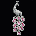 Luxury Bling Peacock Alloy Crystal Flatback DIY Phone Case Cover Deco Kit - Pink