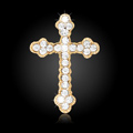 Bling Cross Alloy Rhinestone Crystal DIY Phone Case Cover Deco Kit 45*29mm - White
