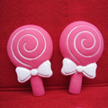 DIY Deco 3D doll Rose Lollipop Plastic Resin Cell Phone Crystal Case Cover
