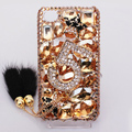 Alloy 5 Bling Crystal Case Rhinestone Cover shell for iPhone 4G 4S - Champagne