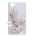 Angel flower Bling Crystal Case Rhinestone Cover shell for OPPO finder X907 - Gold