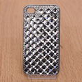 Bling Crystal Case Rhinestone Cover Diamond shell for iPhone 4G 4S - Black