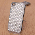 Bling Crystal Case Rhinestone Cover Diamond shell for iPhone 4G 4S - White