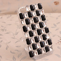 Bling Crystal Case Rhinestone Cover for iPhone 4G 4S - Black