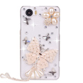 Butterfly Bling Crystal Case Rhinestone Cover shell for OPPO finder X907 - White