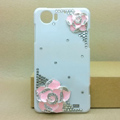 Camellia Bling Crystal Case Rhinestone Cover shell for OPPO finder X907 - Pink