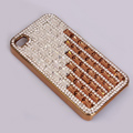 Claw chain Bling Crystal Case Rhinestone Cover shell for iPhone 4G 4S - Champagne