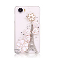 Eiffel Tower Bling Crystal Case Rhinestone Cover shell for OPPO finder X907 - White