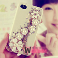 Eiffel Tower Bling Crystal Flowers DIY Cell Phone Case shell Cover Deco Kit