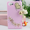 Heart Tassels Bling Crystal Case Rhinestone Cover shell for OPPO finder X907 - Pink