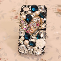 Luxury Heart Alloy Bling Crystal DIY Cell Phone Case shell Cover Deco Den Kit