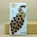 Peacock Bling Crystal Case Rhinestone Cover shell for OPPO finder X907 - Purple