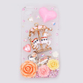 Trojan horse Bling Crystal Case Rhinestone Cover shell for iPhone 4G 4S - White