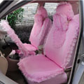 Heart Bud Lace Universal Auto Car Seat Covers 19pcs - Pink
